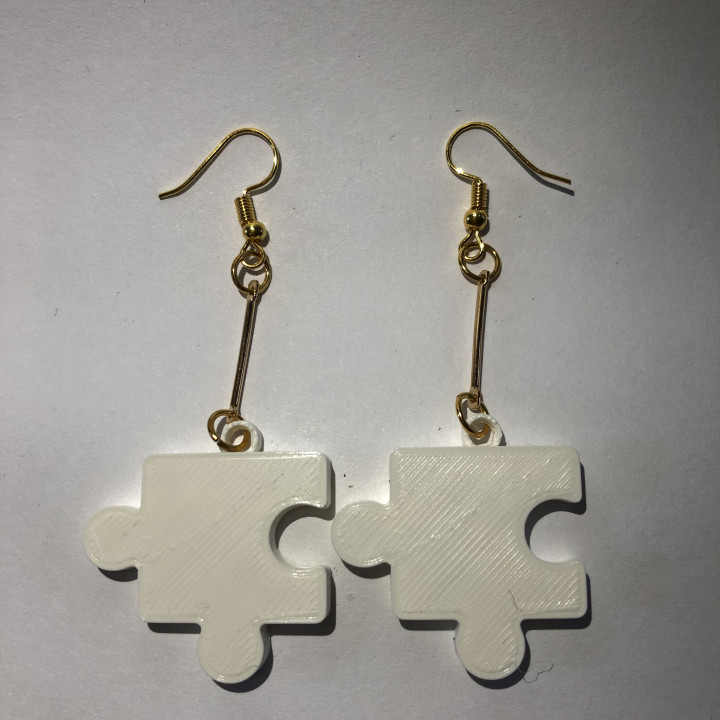 puzzle earrings