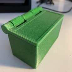Picture of print of Polarity Box - hinged lid prints in place, zero support!