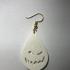Halloween earrings: 'scaryface' image