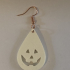 Halloween earrings: 'scaryface v2' image