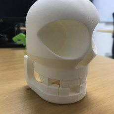 Picture of print of Chompy Skull!  Print-in-place noisy hinged-jaw skull!