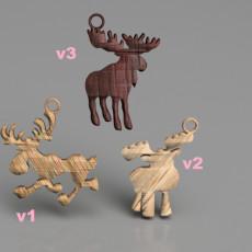 Moose earring (set)