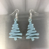 Christmas tree earrings image