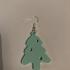 Christmas tree earrings image