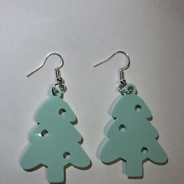Christmas tree earrings