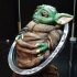 Baby Yoda from Star Wars (support free figure) print image