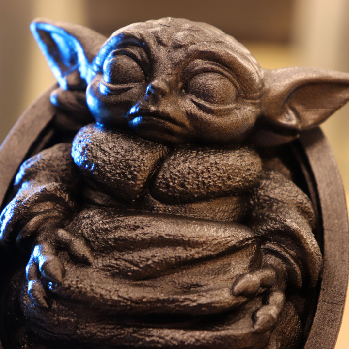 Baby Yoda from Star Wars (support free figure)