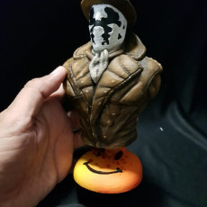 "Picture of print of Rorschach from ""Watchmen"" (support free)"