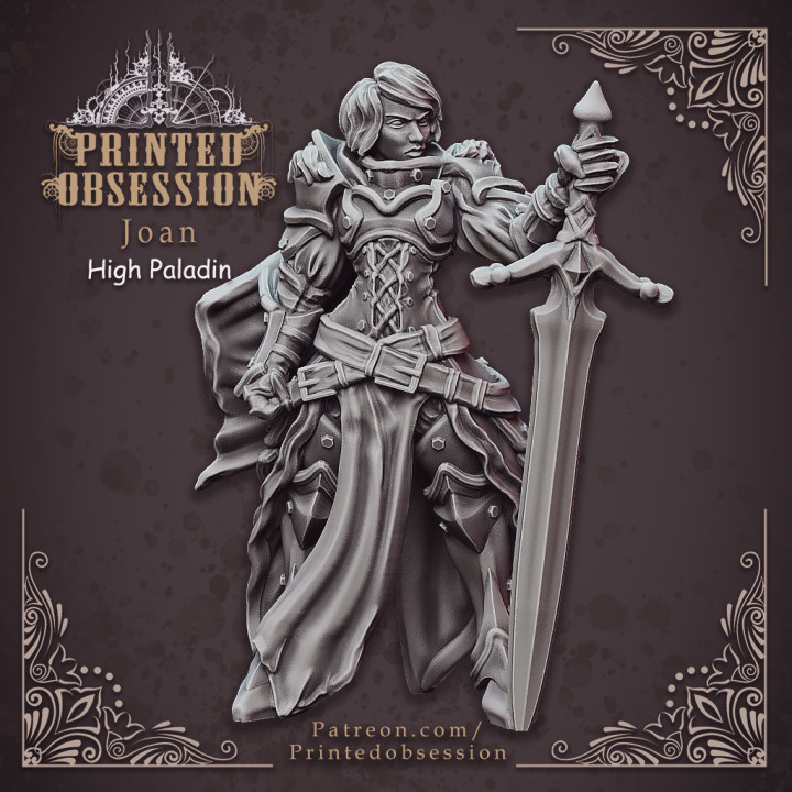 Joan High Paladin - Heaven Hath no Fury - DnD - 32mm [Pre-supported]