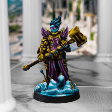Picture of print of Elizabeth - High Paladin - Heaven Hath No Fury - 32mm Scale - DnD [Pre-supported]
