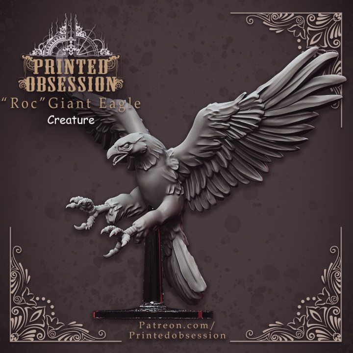 Roc - Giant Eagle mount - Heaven hath no fury - DND - 32 mm scale [Pre-supported]