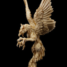 Picture of print of Griffon - landed and flying - Heaven Hath no Fury - DnD - 32mm [Pre-supported]