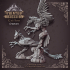 Griffon - landed and flying - Heaven Hath no Fury - DnD - 32mm [Pre-supported] image