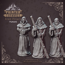 Friars of the Iron hammer - Group of human monks - Heaven Hath No Fury - 32mm scale [Pre-supported]