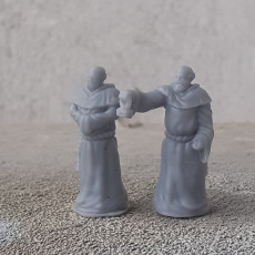 Picture of print of Friars of the Iron hammer - Group of human monks - Heaven Hath No Fury - 32mm scale [Pre-supported]