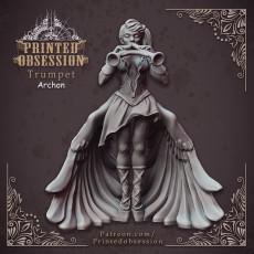 Trumpet Archon - Celestial Bard - Heaven Hath No Fury - 32mm scale [Pre-supported]