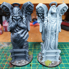 Picture of print of Weeping Angel Statues - Scenery - heaven hath no fury - 32 mm scale [Pre-supported]