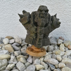 Picture of print of Orc Warrior (support free bust figure)