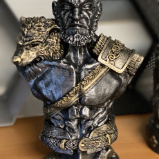 Picture of print of Viking Bust figure (support free) 这个打印已上传 Shane linamar