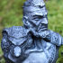 Viking Bust figure (support free) image