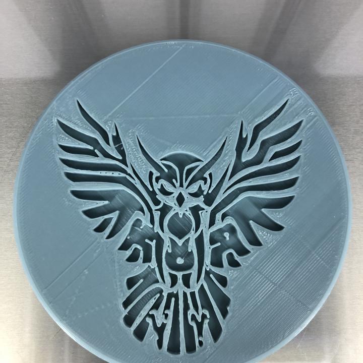 Tribal owl drinkcoaster