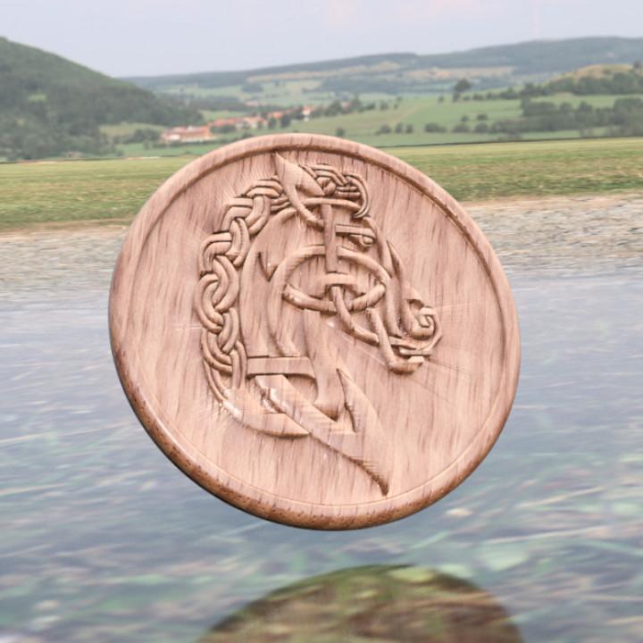 Celtic horse drinkcoaster