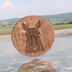 Artistic horse drinkcoaster