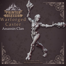 Warforged Caster - Assassin Clan - 32 mm scale