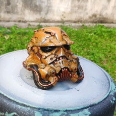 Picture of print of Cyberpunked Stromtrooper helm - storm trooper competition