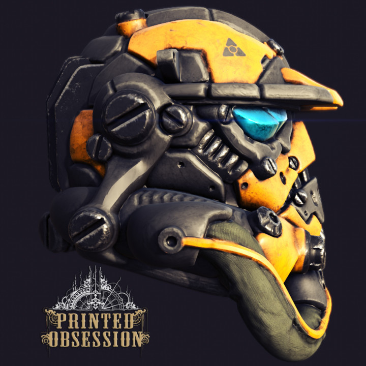 Cyberpunked Stromtrooper helm - storm trooper competition