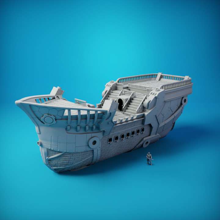Carren Pirates - Sintel Light Cruiser - 7. Hull - Small Resin (Anycubic Photon Sized Printers)'s Cover