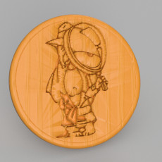 Droopy detective drinkcoaster