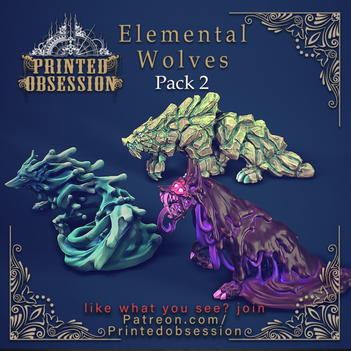 FREE Elemental Wolves - Pack 2 - 32 mm scale
