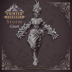 Female Storm Giant - Giant - 32 mm scale miniature