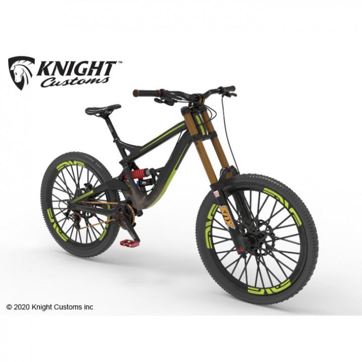 Down Hill Mountain bike 1/10 scale