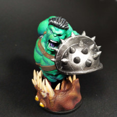 Picture of print of Wicked: The Hulk from Planet Hulk Bust