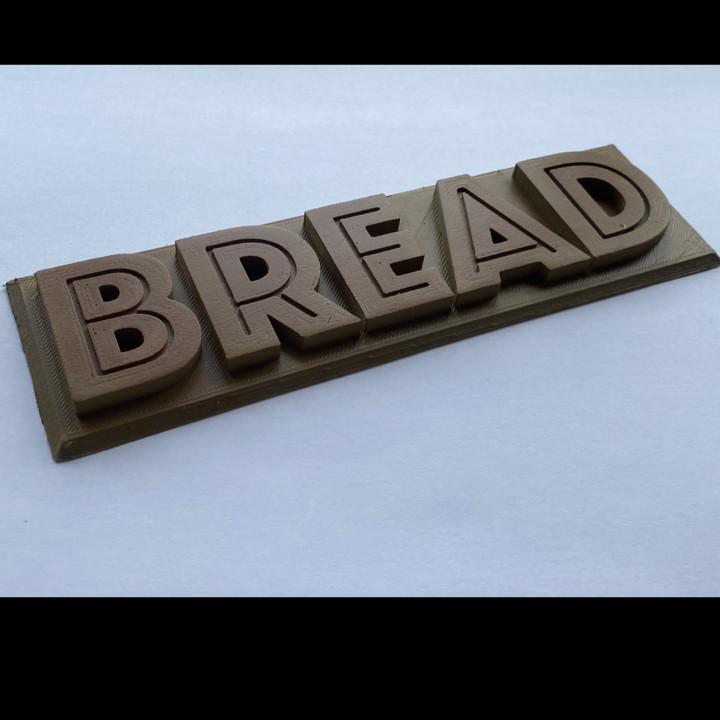 Bread label/plaque