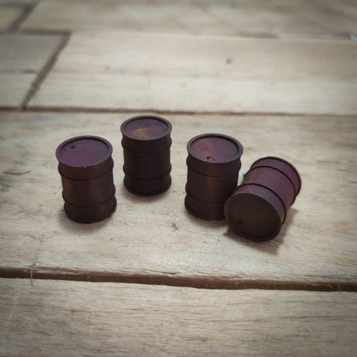 Oil Drums - for tabletop and dioramas