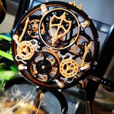 Picture of print of Tourbillon Mechanica - Tourbillon Escapement Mechanical Clock (Assembly guide pdf in description)