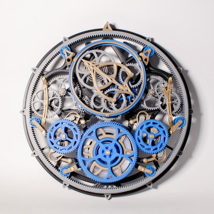 Tourbillon Mechanica - Tourbillon Escapement Mechanical Clock (Assembly guide pdf in description)