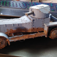 Picture of print of Rolls Royce Armored Car 1914 1/20 ish scale
