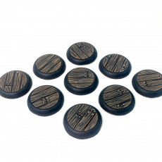 25mm Wood Plank, Recessed Miniature Bases