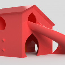 Hamster house with slide