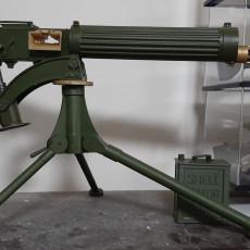 Picture of print of Accessories for Vickers Maxim Machinegun - scale 1/4