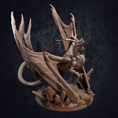 Ice Tyrant Dragon - Presupported