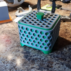 Picture of print of Square Hex Box