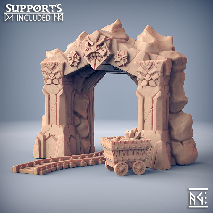 Dwarven Mine Entrance - Dwarven Defender Terrain Piece