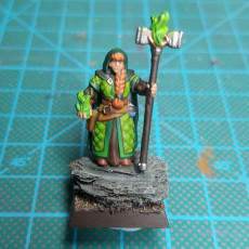 Picture of print of Dwarf girl mage priest