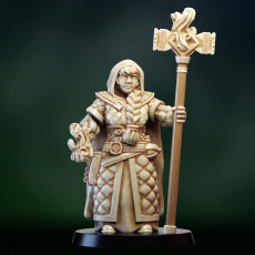 Dwarf girl mage priest