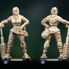 Ogre Troll or oni girl warrior barbarian repose